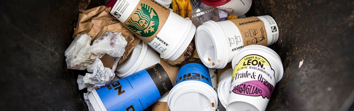 disposable coffee cups image